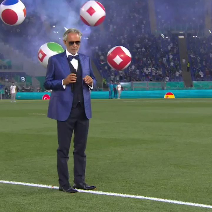 Andrea Bocelli singing Nessun Dorma 🎤  The perfect way to start Euro 2020 🙌 https://t.co/L0l9Wy1AhL