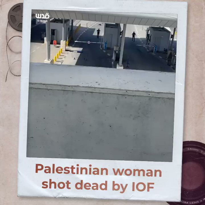 Watch | A #Palestinian woman was shot dead today by Israeli occupation forces at Qalandia checkpoint, on Jerusalem-Ramallah road in the occupied West Bank. https://t.co/Pc0fIJASGO