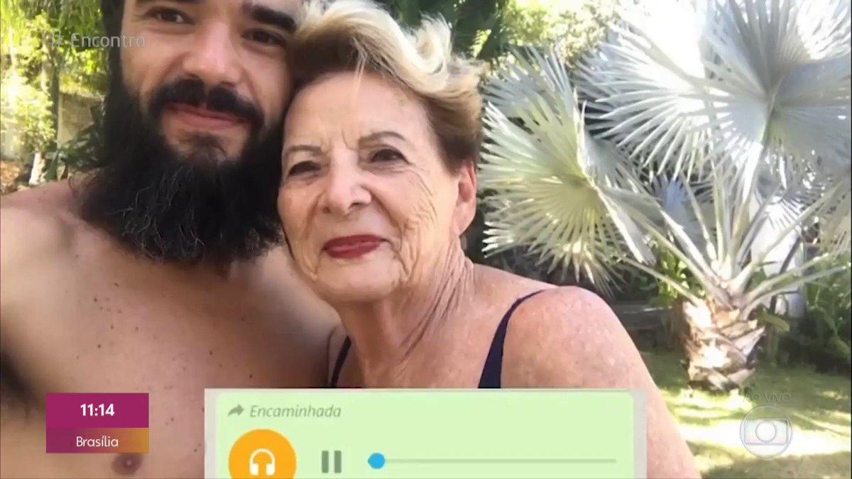 """""""Caio, a situação não tá pra isso, filho!"""" 🗣🗣🗣  Ouvindo em looping esse áudio SEM DEFEITOS da avó do Caio Blat falando sobre a barba dele! 😂💛 https://t.co/m99BJL69bN"""