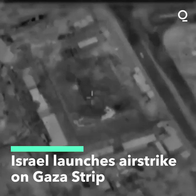 Israeli military launches airstrikes in Gaza in response to incendiary balloons launched from the coastal enclave Photo