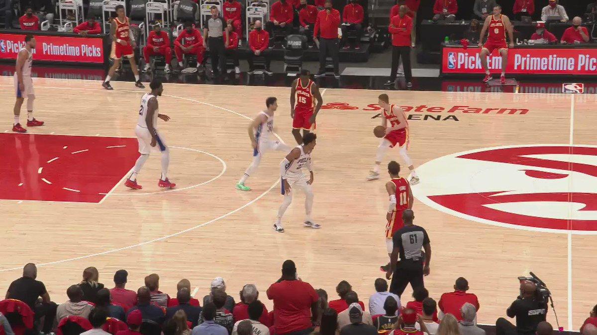 #NBACourtOptix powered by @MicrosoftDE Azure  Matisse Thybulles Defense ist elitär! Seine Perimeter Defense beeinflusst gegnerisches Three Point Shooting entscheidend.  Hawks vs 76ers, GM6 LIVE bei DAZN https://t.co/iW66dQKJVF