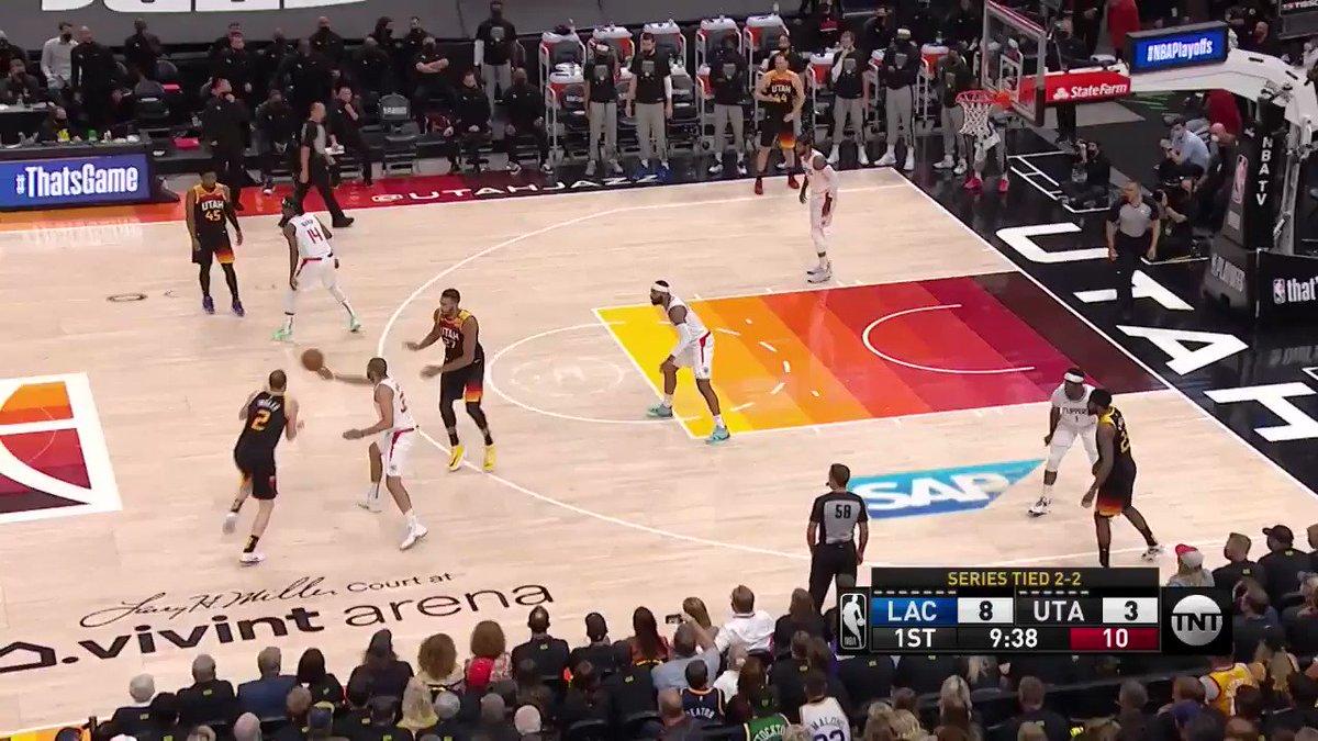 #NBACourtOptix powered by @MicrosoftDE Azure  Terance Mann von den L.A. Clippers erreicht eine Sprintgeschwindigkeit von 25 km/h beim Fastbreak in Spiel 5 gegen Utah.   #NBAPlayoffs https://t.co/Oze6ZPE6zC