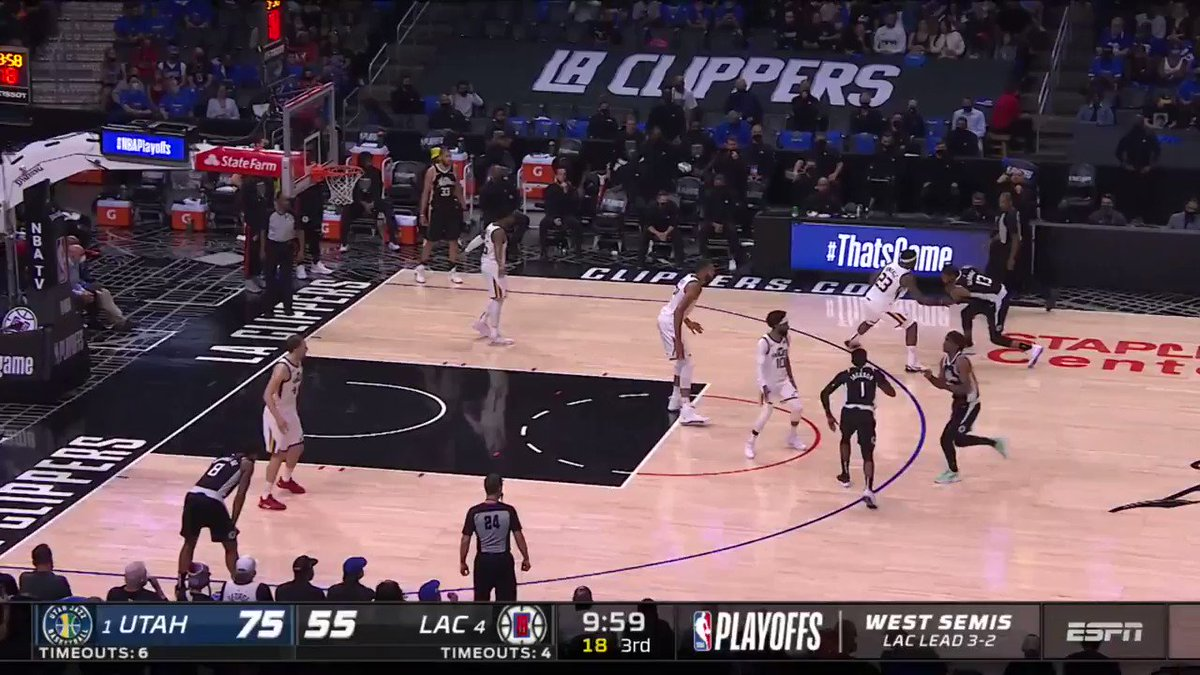 🔥 @Reggie_Jackson's 27 PTS, 10 AST, 3 STL help the @LAClippers come back from 25 down and clinch the first #NBAWCF presented by AT&T berth in franchise history!   #ThatsGame #NBAPlayoffs   Game 1 - Sunday, 3:30pm/et on ABC https://t.co/XdqYMmweFY