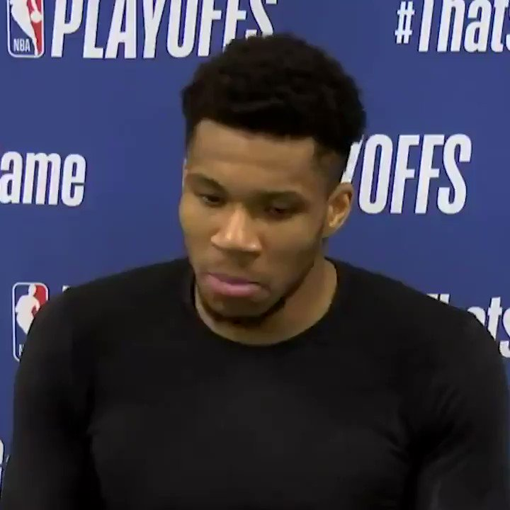 """""""We are built for this. That's why we are here.""""  Giannis said he wanted the Bucks to cherish this moment. https://t.co/lUW15zKXwW"""