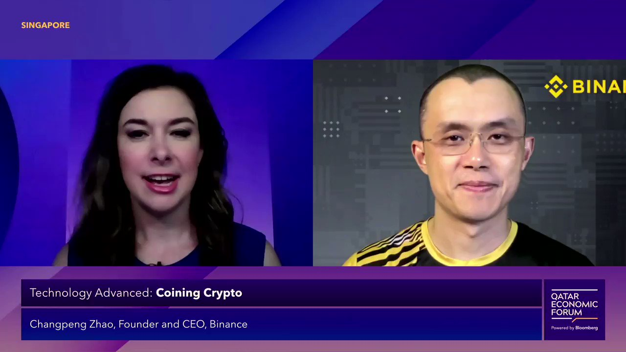 """@BloombergLive: What is going on with #Bitcoin's sharp drop today? @binance Founder & CEO Changpeng Zhao tells @business' @tracyalloway""""We still think it's a pretty healthy market."""" #QatarEconomicForum"""