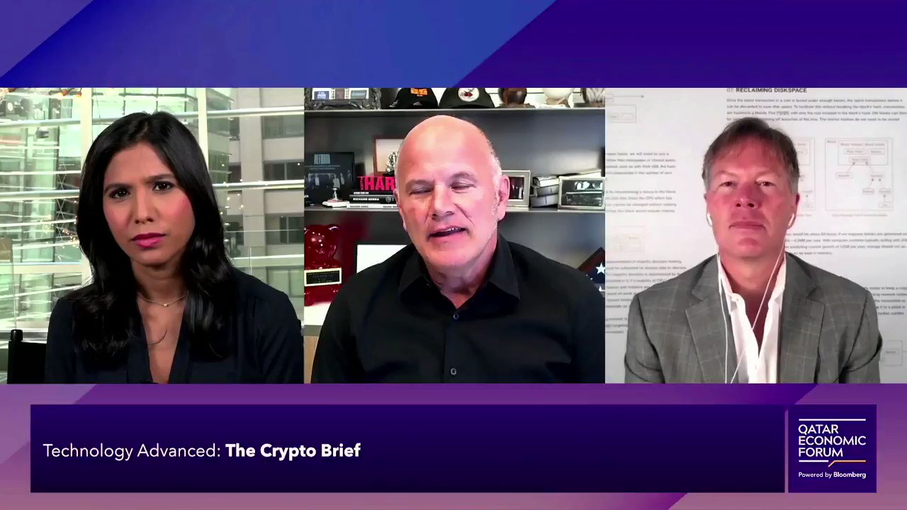 """@BloombergLive: """"I look at #Bitcoin in particular as digital gold. It has the same macro tailwinds but it's also very easy in the adoption curve. I'm still a big buyer of Bitcoin."""" Founder & CEO @GalaxyDigitalHQ @novogratz #QatarEconomicForum"""