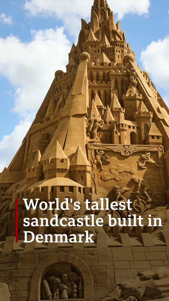 Impressive 🤩  The structure took 4,860 tonnes of sand to make. #Denmark #WorldRecord @vnordjylland