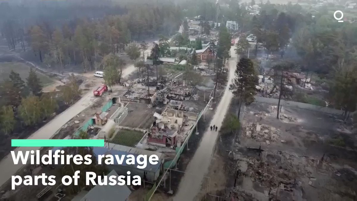 Continued Wildfires Ravage Parts of Russia