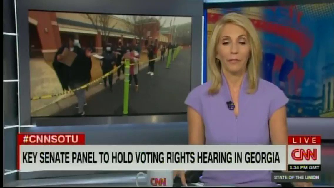 Here's my interview with @DanaBashCNN this morning where I spoke about the importance of passing federal voting rights legislation and so much more. https://t.co/iLdA24ifHh