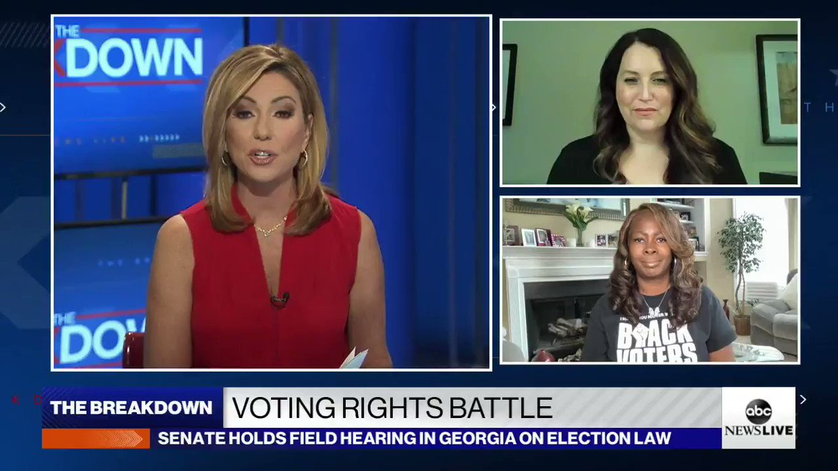 Senate Rules Committee held a field hearing in Atlanta to discuss voting rights as Democrats push for federal reform in the wake of sweeping legislation in Georgia.  @MsLaToshaBrown, of Black Voters Matter, and Virginia Kase Solomón, of @LWV, discuss. https://t.co/QM2mh1HQJH https://t.co/5sMHwbv290