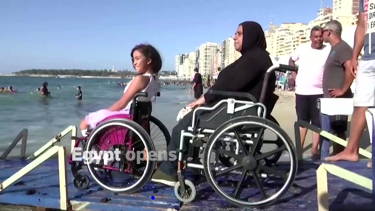 ICYMI: 'At first, I couldn't swim, but now I don't need help from my father or anyone else,' says Abdelrahman at a beach in Alexandria, Egypt, that has been designed for people with disabilities https://t.co/1Bk19gBDmL