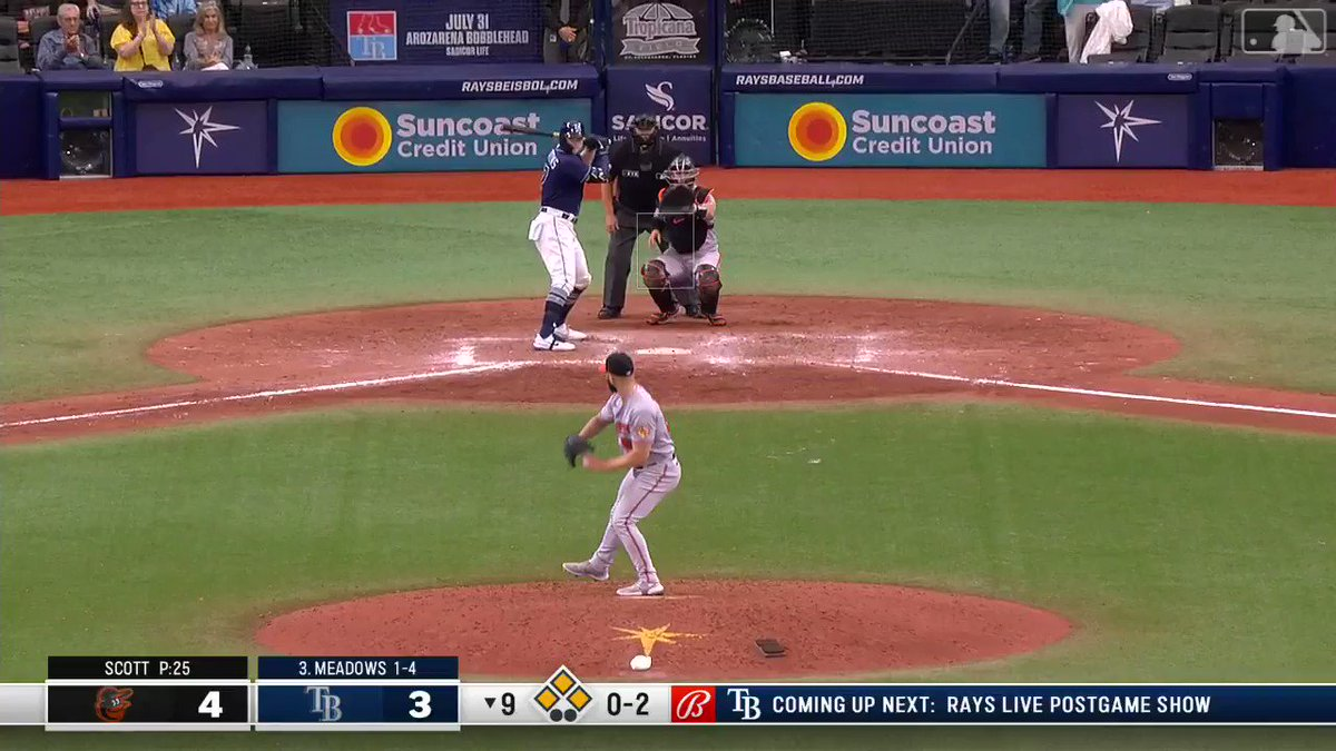 RAYS (-235 ML) WALK-IT OFF 💥  Pain for Orioles ML bettors, thought they had one 😞  (via @RaysBaseball) https://t.co/NkG06CyxOK