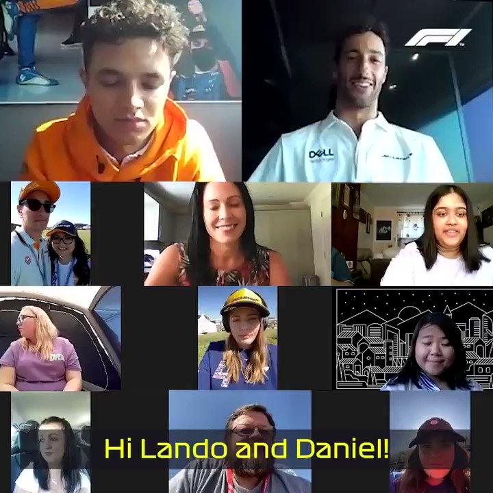 Oh you two, stop it 🥰😁  #F1 @McLaren @LandoNorris @danielricciardo https://t.co/tr20PzS9Y5