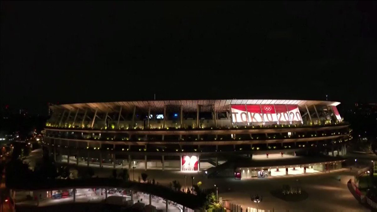 WATCH: Skies over the National Stadium exploded in indigo and white as fireworks marked the start of the #Tokyo2020 Olympics opening ceremony https://t.co/IxTdj4sDDr