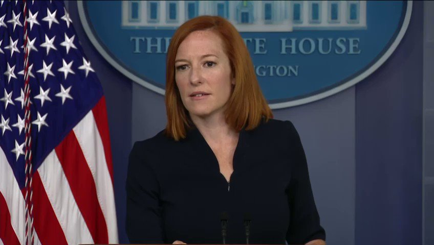 """.@PressSec Jen Psaki: """"Our desire and commitment is to push for and ensure 100% of schools are open across the country."""" https://t.co/I7eWZP1i0w"""