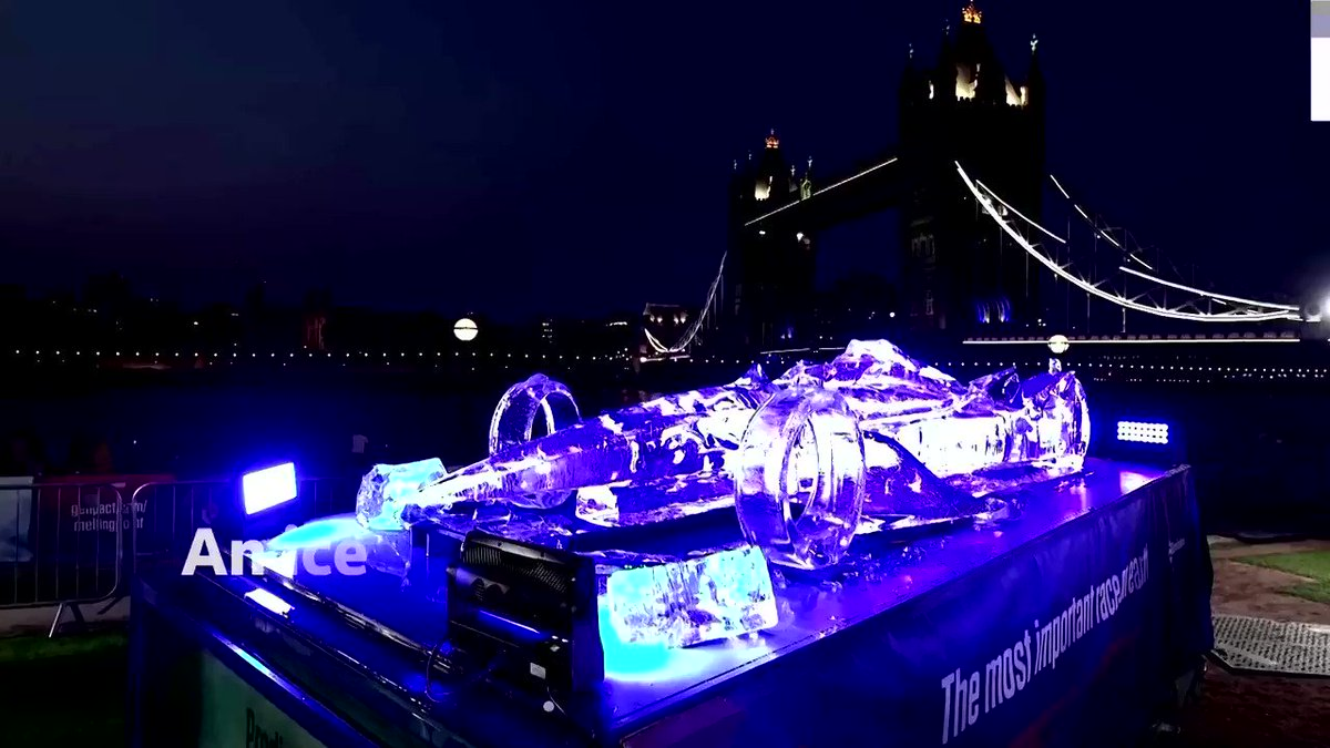 WATCH: This 594-gallon ice replica of a Formula E car in London was left to melt in London for 24 hours to show the effects of climate change https://t.co/vcHeKEunOc