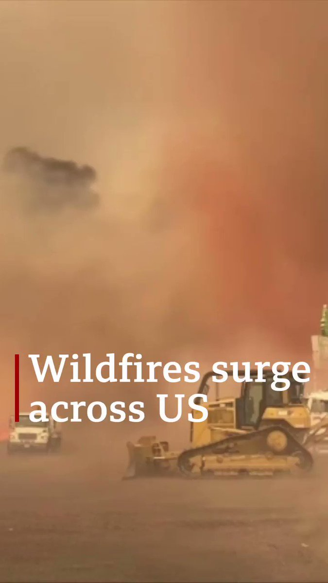 Wildfires surge from California to