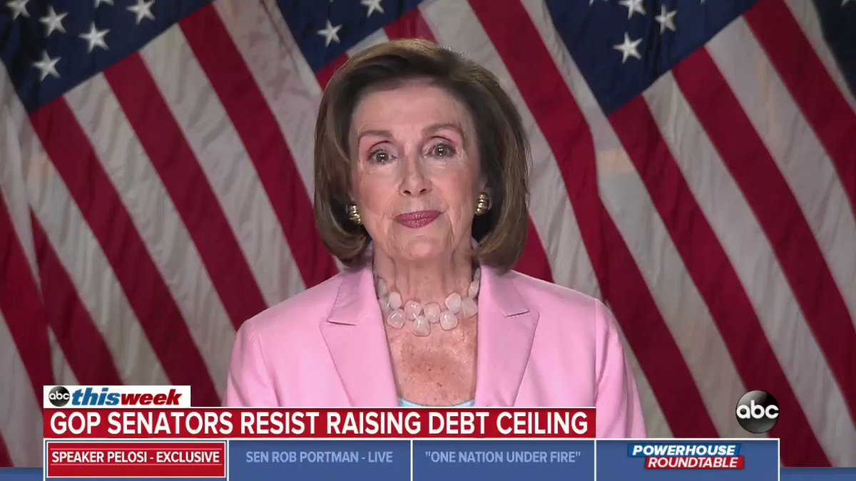 .@SpeakerPelosi tells @GStephanopoulos that the Capitol physician will have final say about whether lawmakers should wear masks on House floor again amid concerns about the delta variant. https://t.co/gxVEUitvor https://t.co/hFJe9Uca6H