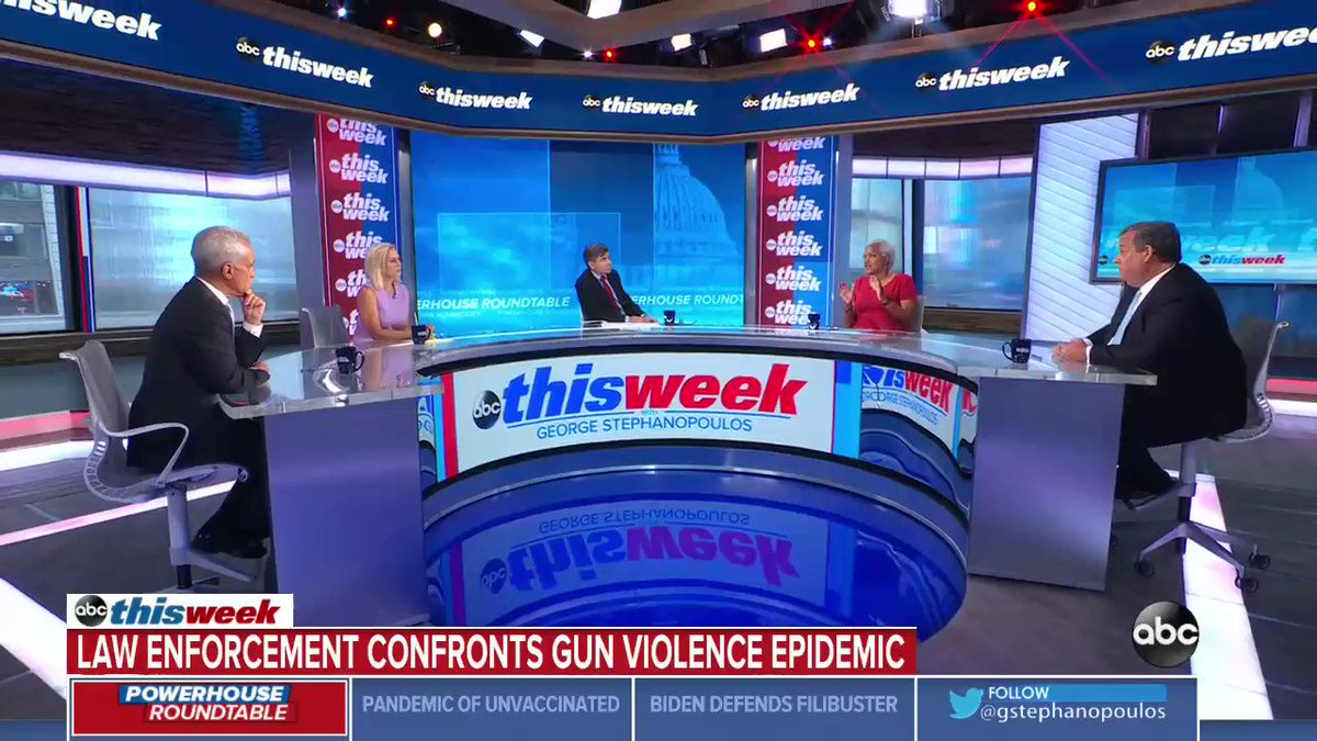 """""""It's not just more policemen. We gotta get the community involved.""""   @DonnaBrazile tells @GStephanopoulos that police are """"stressed out"""" and need help to address the spike in gun violence.  https://t.co/AKdlFtStds https://t.co/CkjIV8TC7U"""