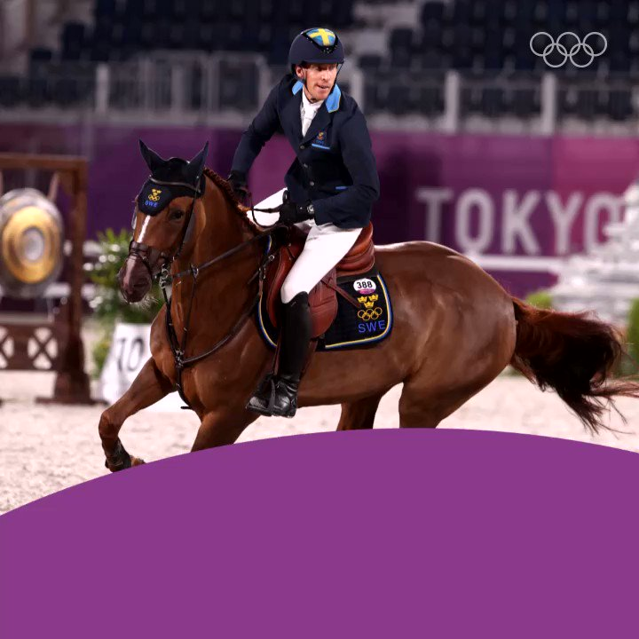 We got another #Tokyo2020 #GOLD medal! @SWEOlympic's riders Peder Fredricson, Malin Baryard-Johnsson, and Henrik von Eckermann won the team show jumping top spot! Congratulations to the riders and their horses King Edward, Indiana and All In! #Equestrian #Olympics #Tillsammans