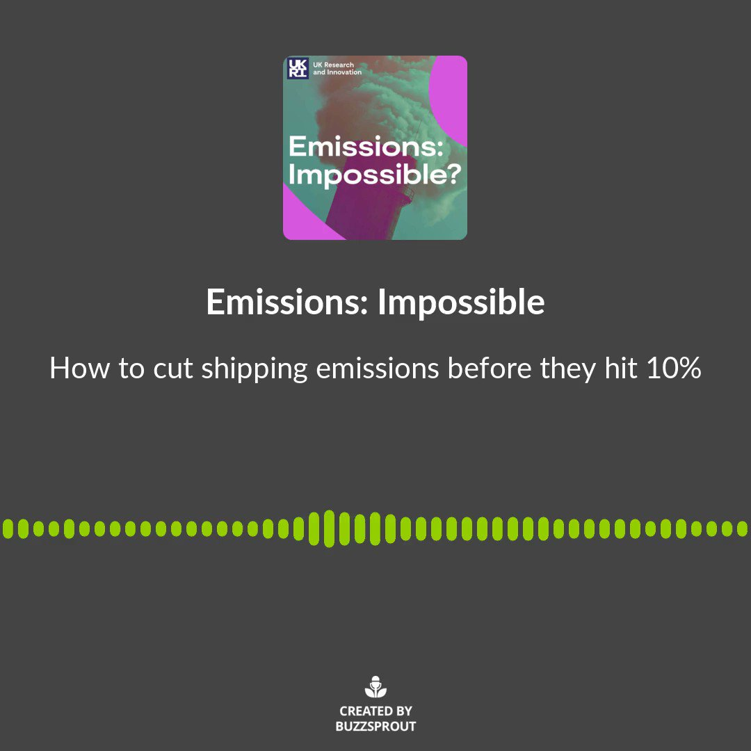 Listen to UCL Energy Institute's Dr Tristan Smith on UKRI's new podcast, 'Emissions: Impossible' discussing how to cut shipping emissions before they risk hitting 10% of all emissions ⬇️ https://t.co/qtYKsPX3Jy