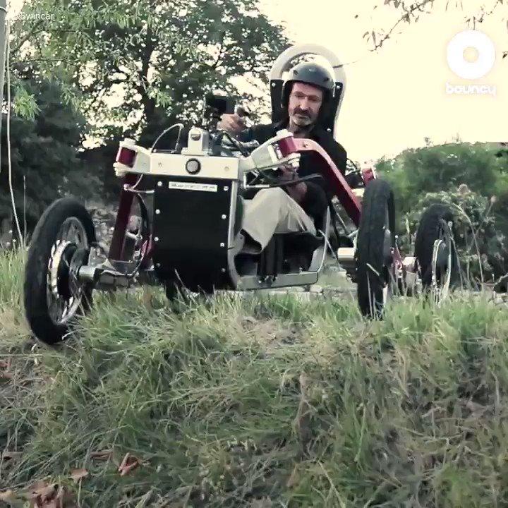 クモの様にあらゆる地形を自在走行!   電動四駆オフロード車「Swincar E-Spider」 by @OfficialSwincar詳しくはこちら👉#自動車 #オフロード