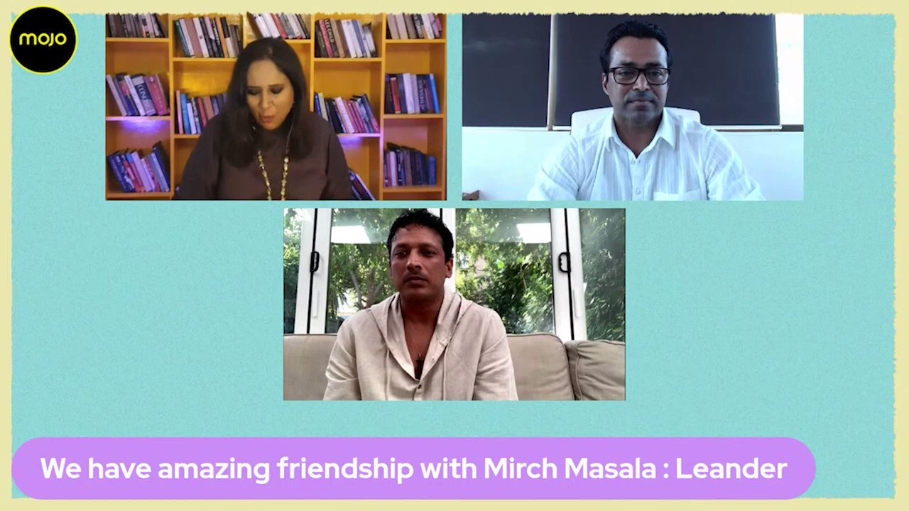"""@BDUTT: They live 15 seconds apart but have never gone to the others home. Yet @leander calls his relationship with @maheshbhupathi """"brotherhood""""- The tennis stars speak to me on dysfunctional love & #Breakpoint the series that tells their life. Full conversation:"""