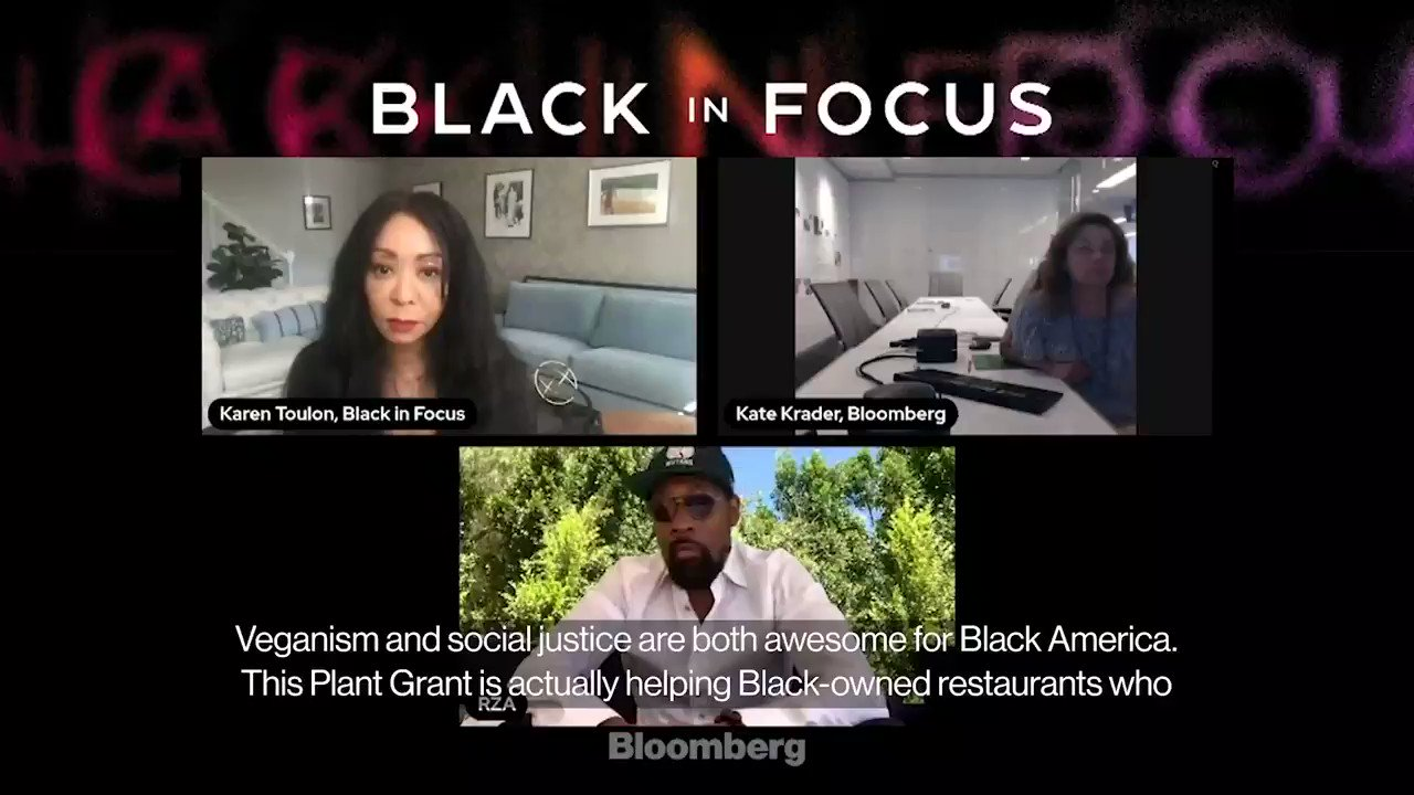 @business: Wu-Tang Klan's RZA is helping support Black-owned restaurants pivoting to plant-based menus. So bring it on