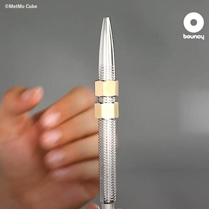 フィジェットペンの究極形!?ダイヤスクリューの不思議な快感にハマる「MetMo Pen」 by MetMo Cube詳しくはこちら👉#筆記具 #フィジェットペン