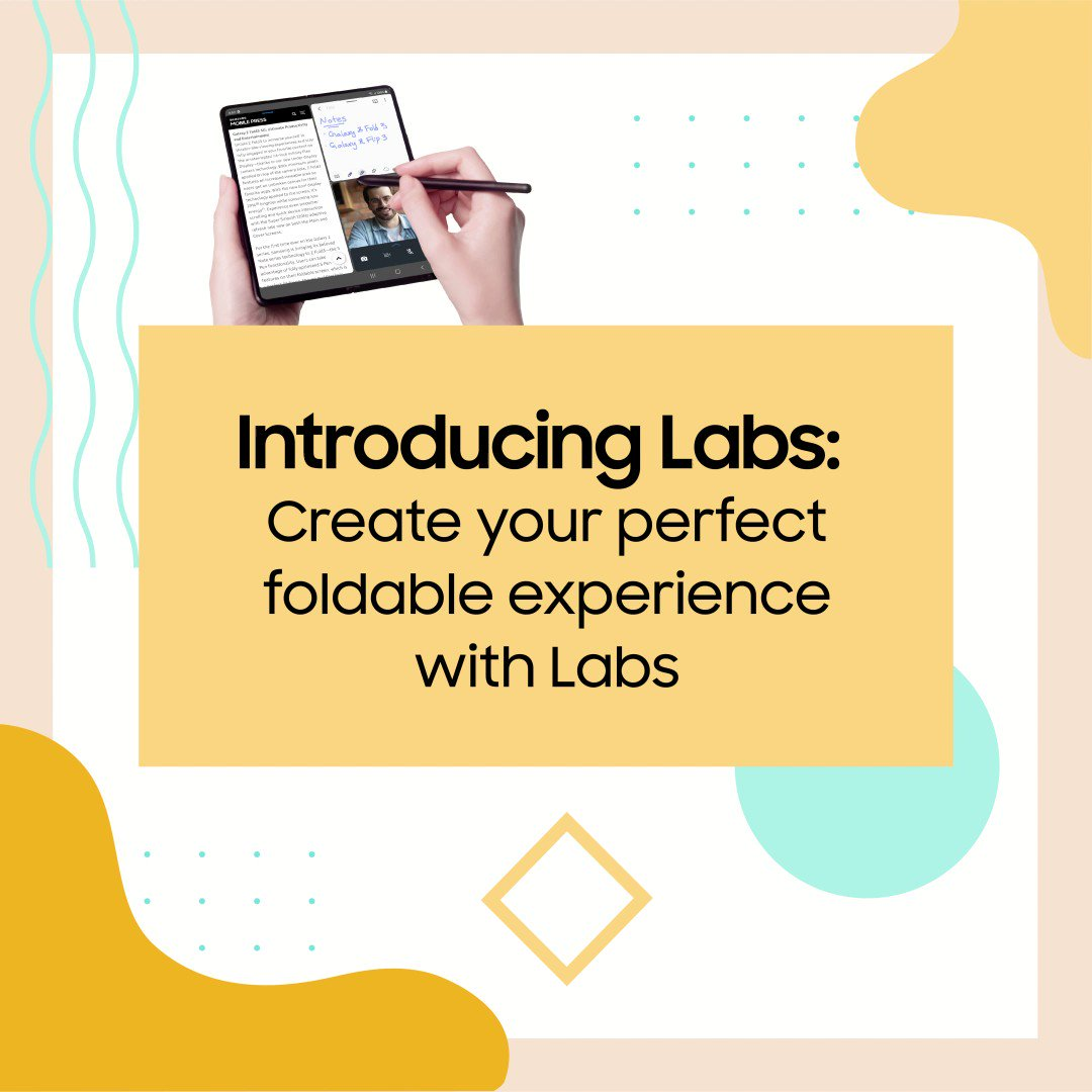 With the introduction of Labs, Samsung is making the Galaxy foldable experience even more flexible and adaptable to your needs.  Check out the links below to learn more. https://t.co/flcrBzQ7m1 | https://t.co/rFk70ez5Q7  #GalaxyZFold3 #GalaxyZFlip3 https://t.co/SyQaYVbI4B