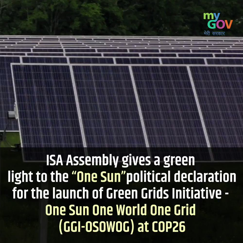 India stands resolute in its commitment to Green Energy by proposing to energize 140+ countries with the transnational solar energy grid under the 'One Sun One World One Grid' initiative! #TransformingIndia