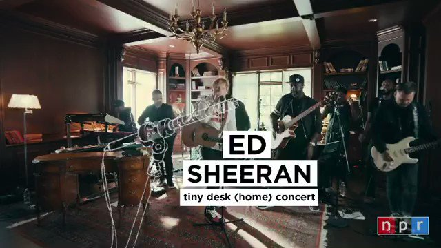 """I had so much fun doing this @nprmusic Tiny Desk session. Go watch it on their youtube channel for a little preview of """"Overpass Graffiti"""" before it's out this Friday and a cover of @foyvance's song """"Make It Rain"""" x  Repost @ teddysphotos on Instagram"""