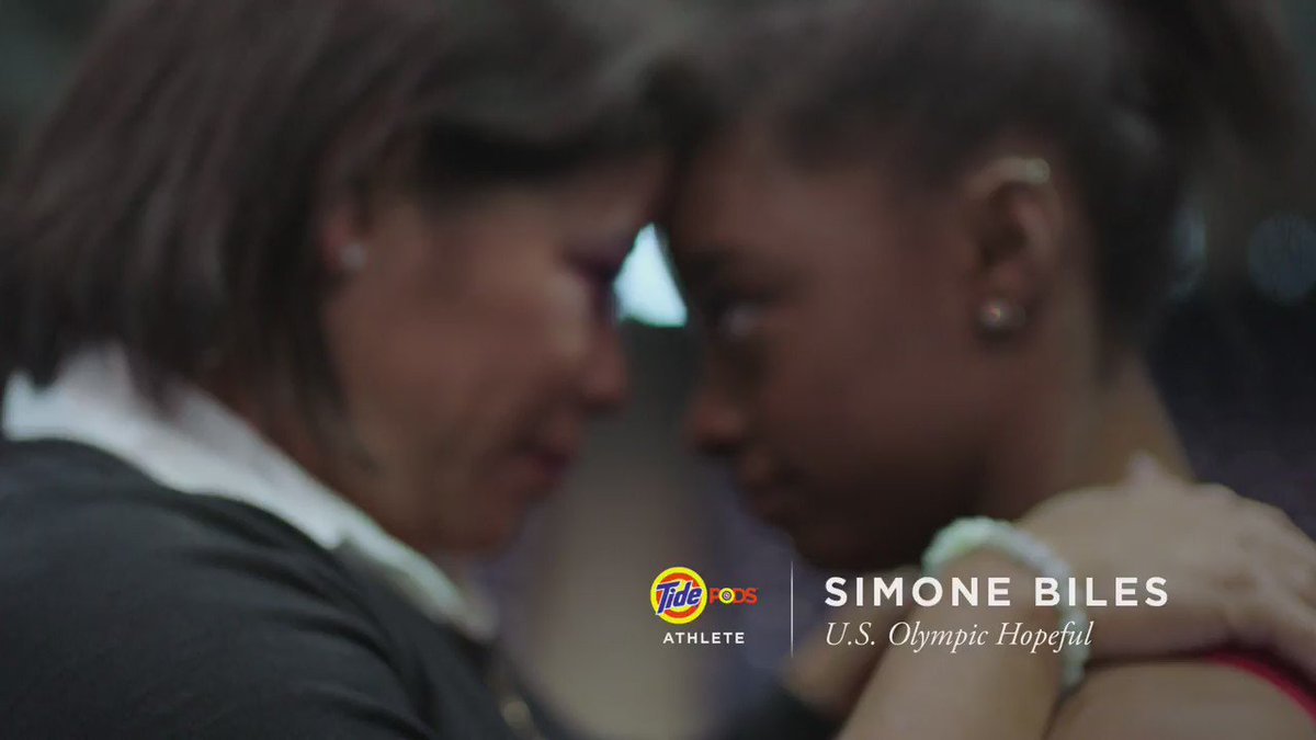 At 13 @Simone_Biles told her mom she wanted to represent the USA. Tonight she leads #TeamUSA bearing the #USA . https://t.co/aEuuYZIAjl