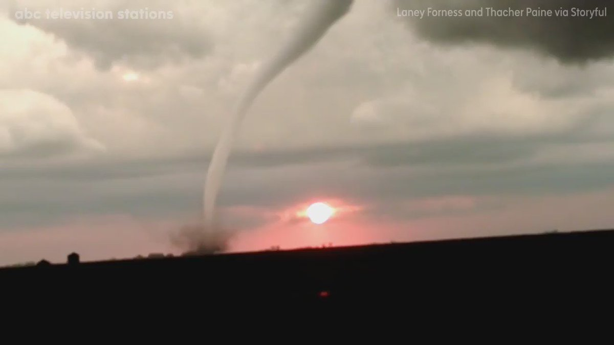 Tornado, sunset combine for stunning show by Mother Nature