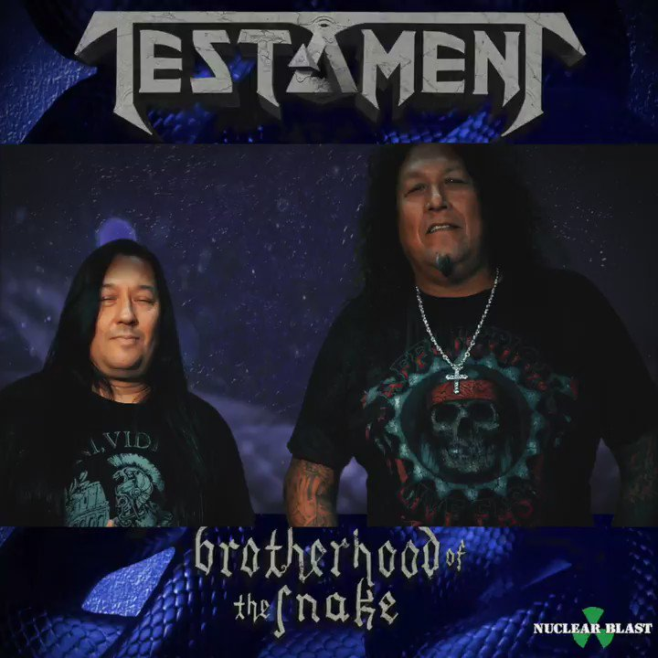 "The new @testament album ""Brotherhood Of The Snake"" is out Oct 28, 2016! Order at https://t.co/4xUTb2a6q8 https://t.co/CN8mSmuKMk"