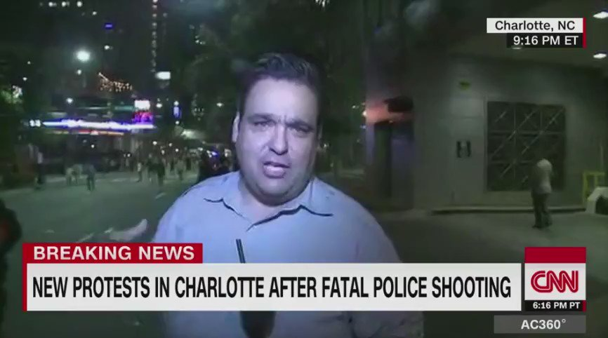 Protester bodychecks CNN reporter, knocks him to the ground at #CharlotteProtest https://t.co/5wkzPXFfdp