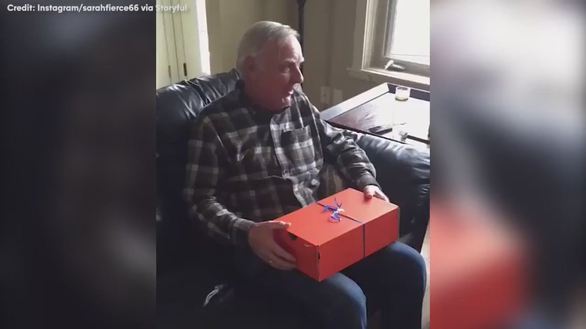 Dad has the best reaction to surprise birthday gift