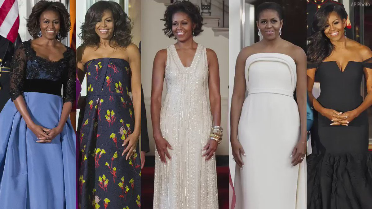 Michelle Obama's state dinner fashion through the years