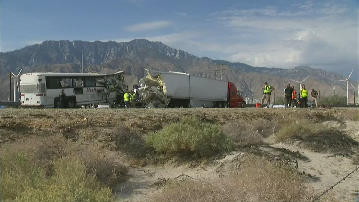 Grisly bus crash in SoCal kills 13 people, injures 31.