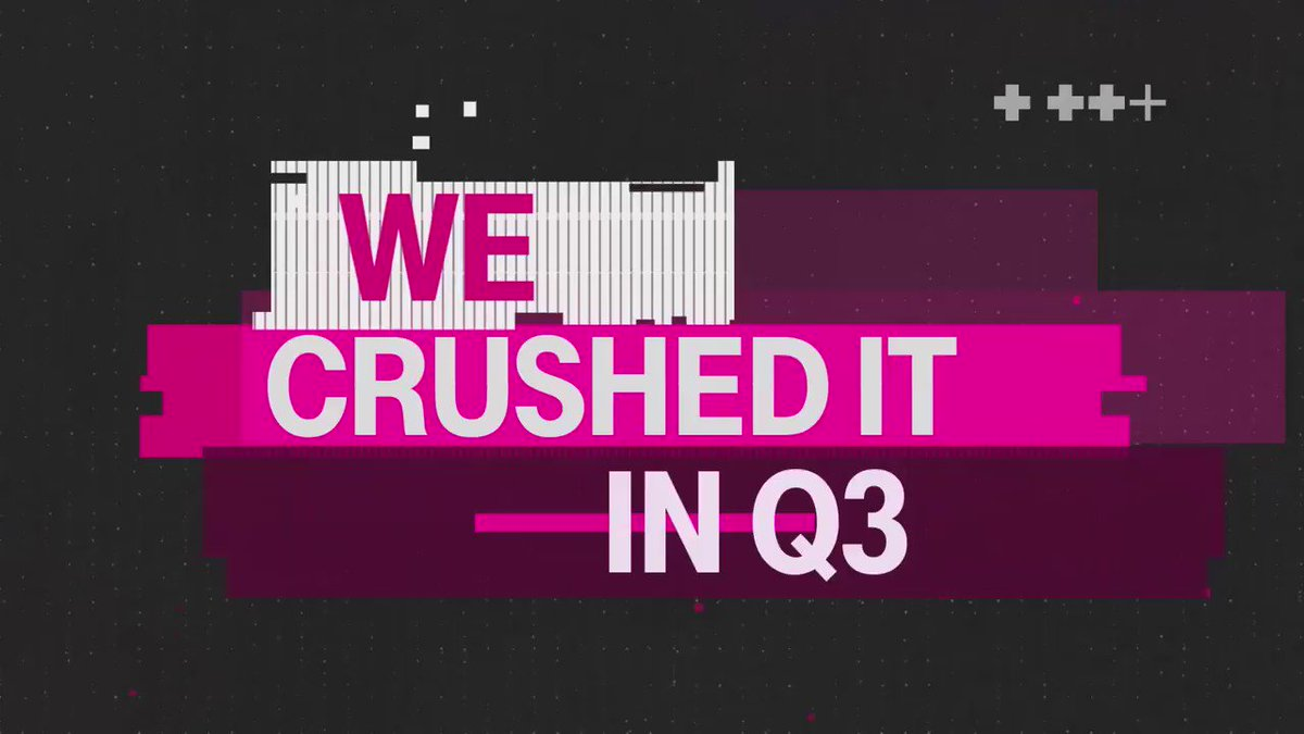 Social Media Post: RT @JohnLegere: Want to know how @TMobile did in Q3? Just watch...