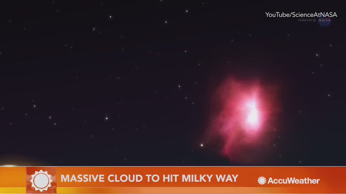 From @AccuWeather: Mysterious cloud on collision course with Milky Way