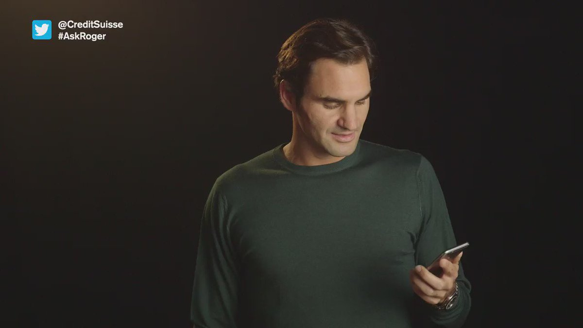 #AskRoger: you wanted to know what @RogerFederer's favorite #emoji is? Here's his answer: https://t.co/jKBHLAz4ny