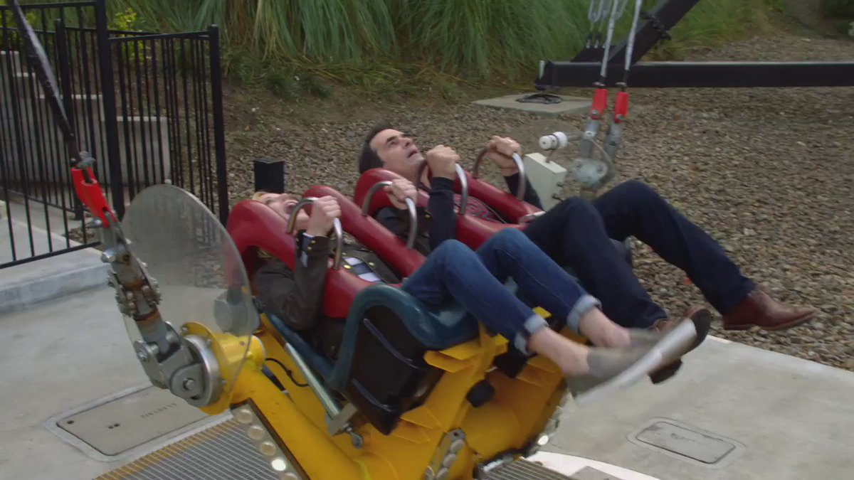 Life's a rollercoaster. 🎢 #ModernFamily #NationalRollerCoasterDay http...