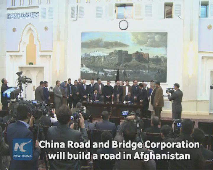 A Chinese firm signs $205 mln deal to build key road in Afghanistan