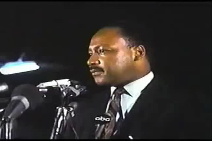 "Dr. Martin Luther King Jr.'s Last Speech. ""I've Been To The Mountaintop."" April 3, 1968. #MLKDay  https://t.co/cAuEQe9B6L"
