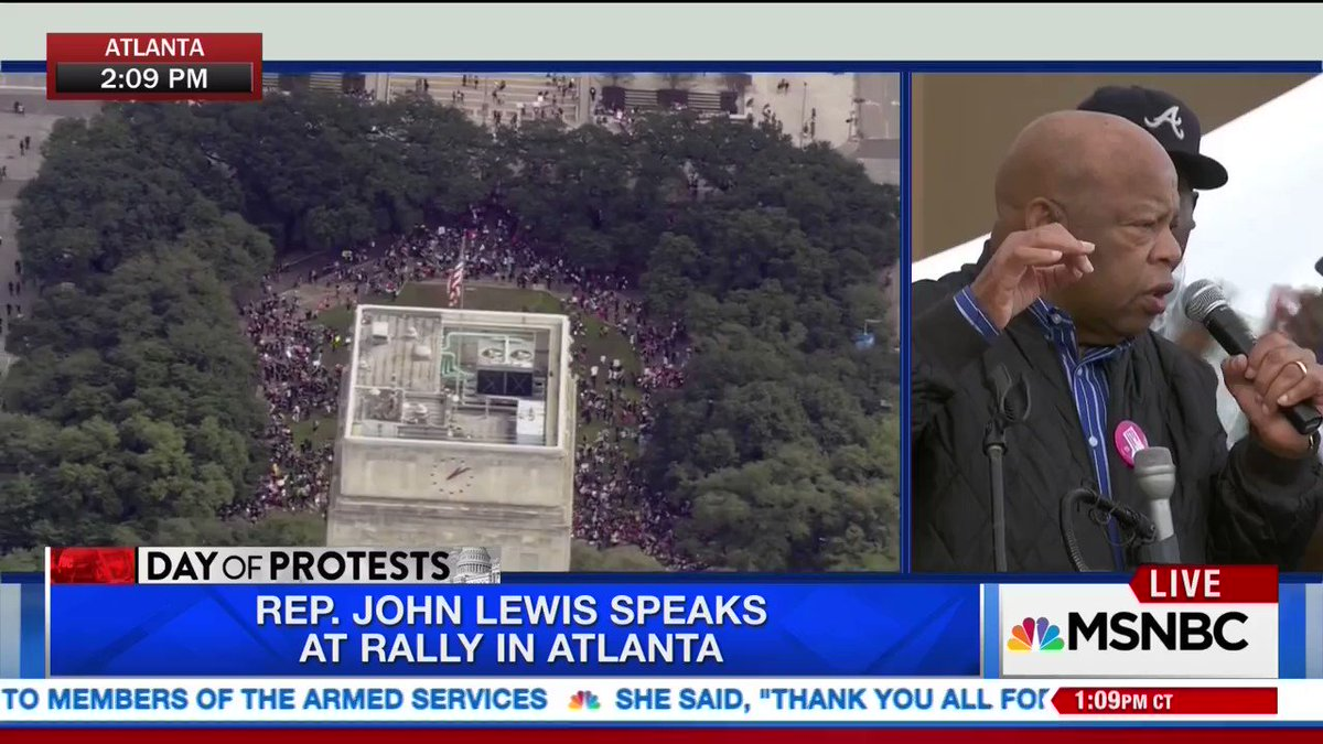 "John Lewis speaking at the #WomensMarch in Atlanta: ""I am ready to march again!"" https://t.co/2XdddippdK"