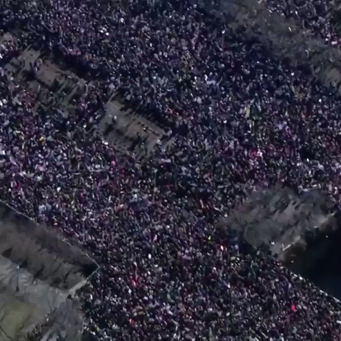 Hundreds of thousands of people take part in Women's Marches across America and the world #womensmarch