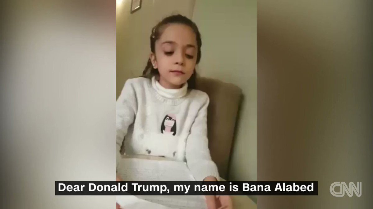 This 7-year-old girl who escaped Aleppo in Syria wrote a letter to President Donald Trump http://cnn.it/2jG5UFe