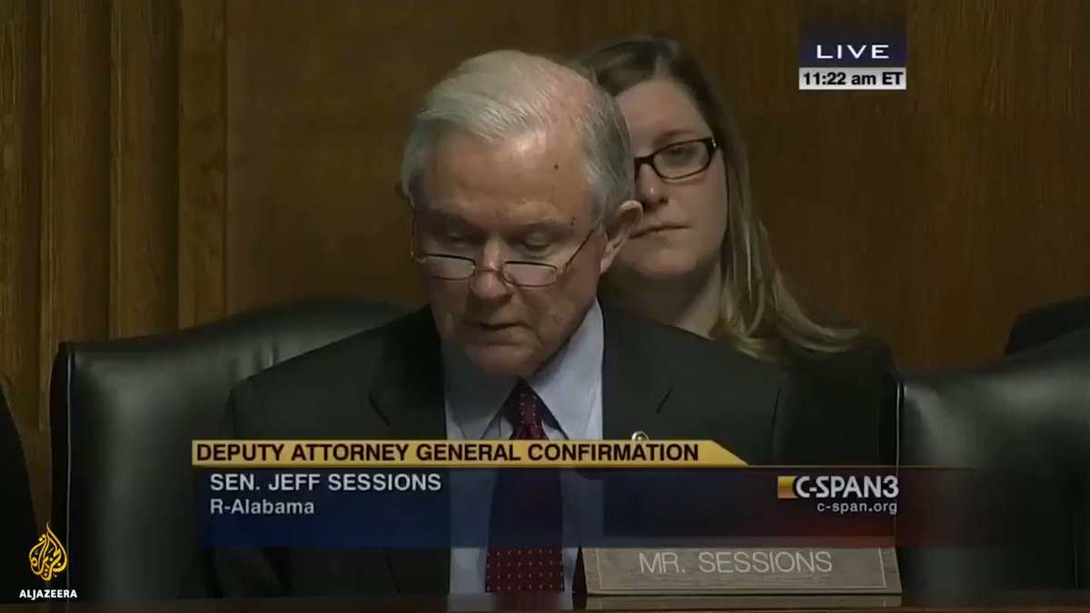 This 2015 conversation between Jeff Sessions and Sally Yates is going viral after she was fired by President Trump. https://t.co/YNPf7MiO4W