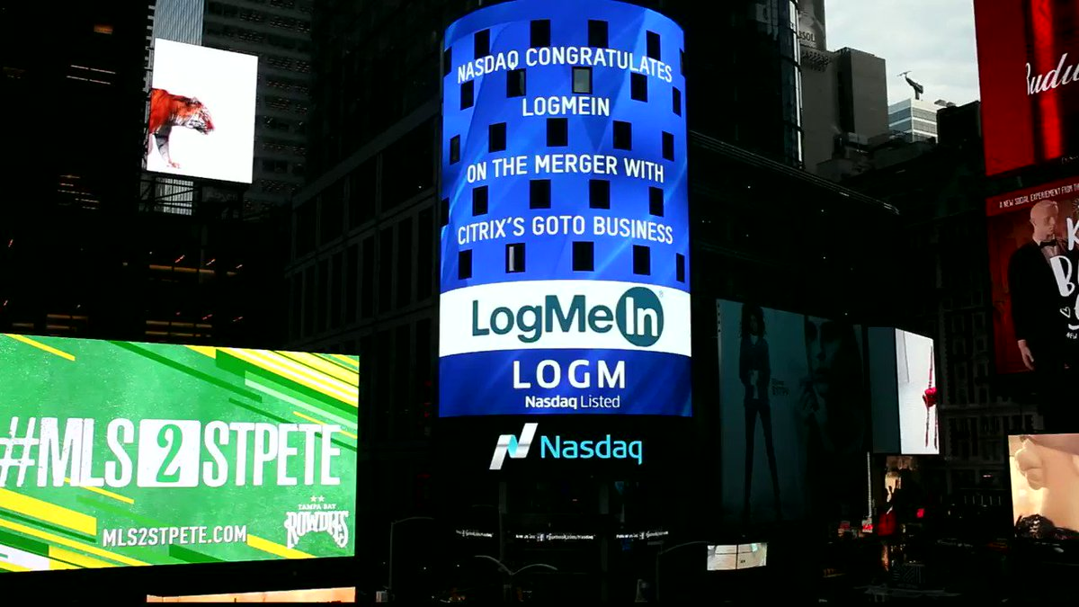 Special thanks to @NASDAQ for the amazing display in Times Square! #LOGM https://t.co/JD8yeejKnQ